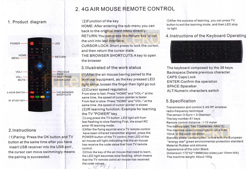 Rii rt-mk08 user manual pdf